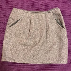 J. Crew Wool Grey Skirt w/ Pockets Sz 00